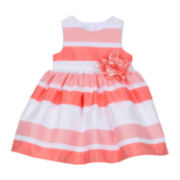 Marmelatta Burnout Stripe Dress - Baby Girls 3m-24m