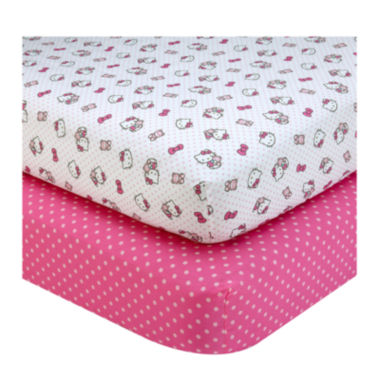 jcpenney.com | NoJo® Sanrio Hello Kitty 2-pk. Crib Sheet