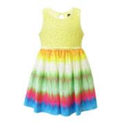 Lilt Sleeveless Tie Dye Dress - Toddler Girls 2t-4t
