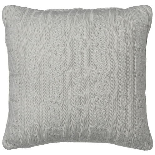 IZOD® Chambray Cable Knit Decorative Pillow