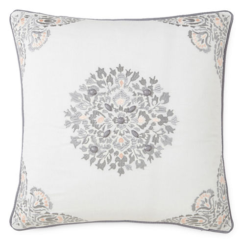 Eva Longoria Home Bethany Square Beaded Decorative Pillow