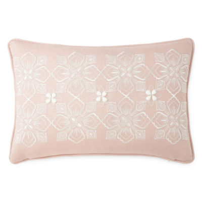 Eva Longoria Home Bethany Embroidered Oblong Decorative Pillow