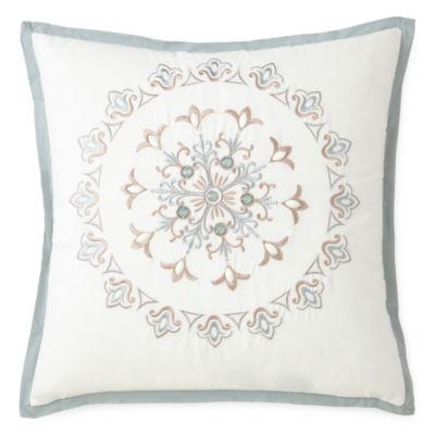 """Eva Longoria Home Briella 18"""" Square Decorative Pillow"""