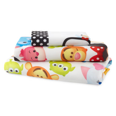 "jcpenney.com | Disney® TsumTsum ""Faces"" Twin Sheet Set"