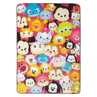 "jcpenney.com | Disney® TsumTsum ""Faces"" Fleece Blanket"