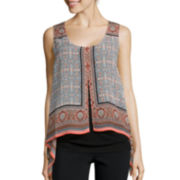 Alyx® Sleeveless Layered Scarf Top