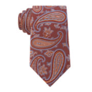 Stafford® Tray Paisley Silk Tie - Extra Long