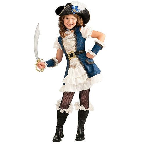 Blue Pirate Girl Child Costume