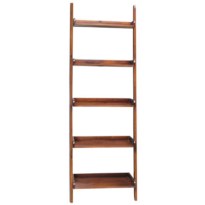 Leaning 5 Shelf Bookshelf
