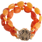 Art Smith by BARSE Orange Gemstone Stretch Bracelet