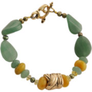 Art Smith by BARSE Green & Yellow Gemstone Bracelet