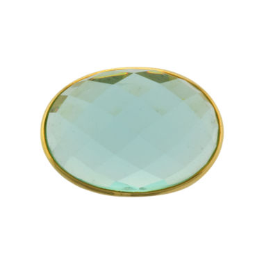 jcpenney.com | ATHRA Aqua Glass Oval Ring