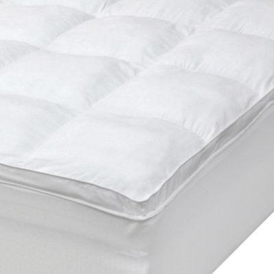 Ideal Comfort Microfiber Baffle Box Fiberbed Mattress Pad W Skirt