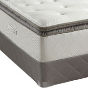 Sealy® Posturepedic® West Plains Plush Euro Pillow-Top Mattress and Box Sprng