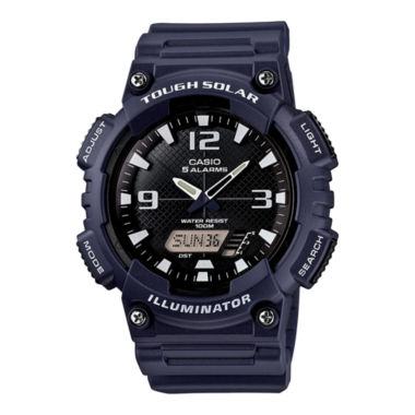 jcpenney.com | Casio® Mens Black Dial Blue Resin Strapl Solar Sport Watch AQ-S810W-2A2