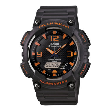 jcpenney.com | Casio® Mens Black Dial Gray Resin Strap Solar Sport Watch AQ-S810W-8A