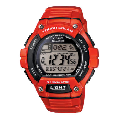 jcpenney.com | Casio® Solar Runner Womens Large Case Watch WS220C-4A