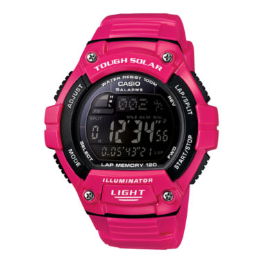 jcpenney.com | Casio® Solar Runner Womens Large Case Watch WS220C-4B