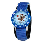 Disney Kids Woody and Jessie Easy-Read Fast Strap Watch
