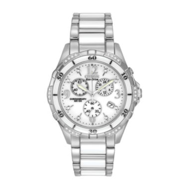 jcpenney.com | Citizen® Womens White Ceramic Diamond-Accent Watch FB1230-50A