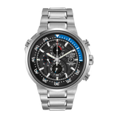 jcpenney.com | Citizen® Eco-Drive® Endeavor Mens Silver-Tone Chronograph Dive Watch CA0440-51E