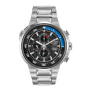 Citizen® Eco-Drive® Endeavor Mens Silver-Tone Chronograph Dive Watch CA0440-51E