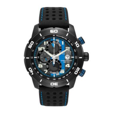 jcpenney.com | Citizen® Eco-Drive® Primo Mens Black & Blue Multifunction Watch CA0467-03E