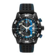 Citizen® Eco-Drive® Primo Mens Black & Blue Multifunction Watch CA0467-03E