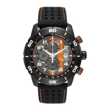 jcpenney.com | Citizen® Eco-Drive® Primo Mens Black & Orange Multifunction Watch CA0467-11H