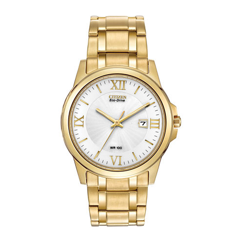Citizen® Eco-Drive® Mens Gold-Tone Bracelet Watch BM7262-57A