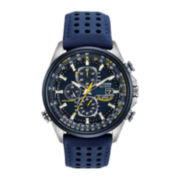 Citizen® Eco-Drive™ Mens Blue Angels World Chronograph A-T Watch AT8020-03L