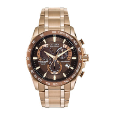 jcpenney.com | Citizen® Eco-Drive® Perpetual Chrono A-T Mens Rose-Tone Chronograph Watch AT4106-52X
