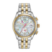 Citizen® Eco-Drive™ World Time A-T Womens Two-Tone 10ATM Watch FC0004-58D