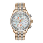 Citizen® Eco-Drive™ World Time A-T Womens Two-Tone 10ATM Watch FC0006-52D