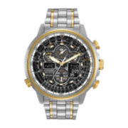 Citizen® Eco-Drive® Navihawk A-T Mens Two-Tone Chronograph Watch JY8034-58E
