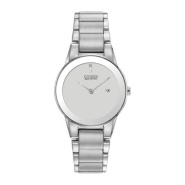 jcpenney.com | Citizen® Eco-Drive® Axiom Womens Silver-Tone Watch GA1050-51A