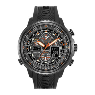 jcpenney.com | Citizen® Eco-Drive® Navihawk A-T Mens Black Chronograph Watch JY8035-04E