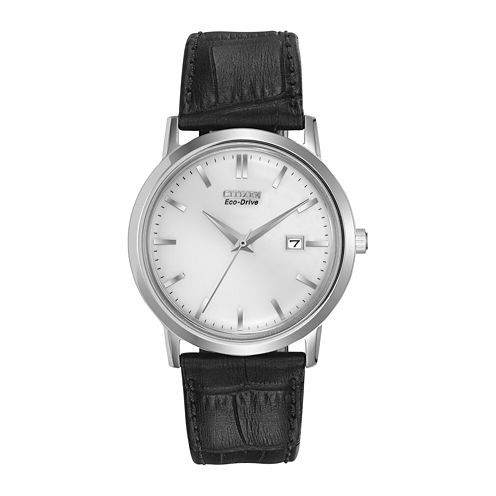 Citizen® Eco-Drive™ Mens Leather-Strap Watch BM7190-05A