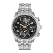 Citizen® Eco-Drive® World Time A-T Mens Silver-Tone Watch  AT9010-52E