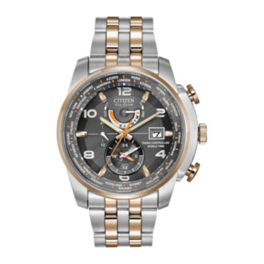 jcpenney.com | Citizen® Eco-Drive® World Time A-T Mens Two-Tone Watch  AT9016-56H