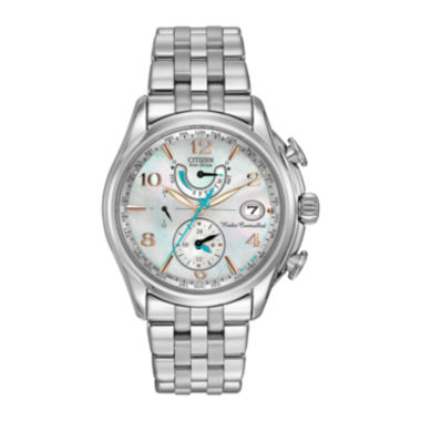 jcpenney.com | Citizen® Eco-Drive® World Time A-T Womens Silver-Tone Watch FC0000-59D