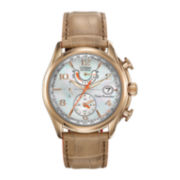 Citizen® Eco-Drive™ World Time A-T Womens Leather Strap 10ATM Watch FC0003-18D