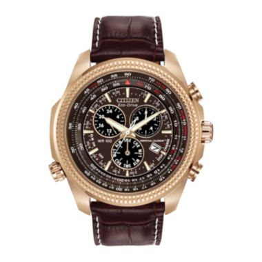 jcpenney.com | Citizen® Eco-Drive® Mens Perpetual Calendar Chronograph Brown Strap Watch BL5403-03X