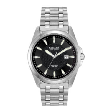 jcpenney.com | Citizen® Eco-Drive® Mens Black Dial Stainless Steel Watch BM7100-59E
