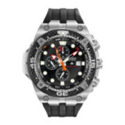 Citizen® Eco-Drive® Mens Black Silicone Strap Chronograph Watch BJ2135-00E
