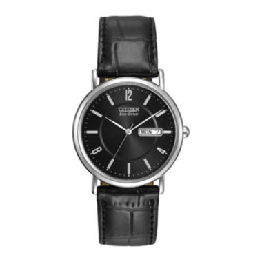 jcpenney.com | Citizen® Eco-Drive® Mens Black Leather Strap Watch BM8240-03E