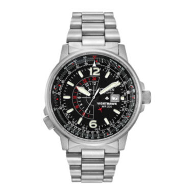 jcpenney.com | Citizen® Eco-Drive® Nighthawk Flight Mens Stainless Steel Watch  BJ7000-52E