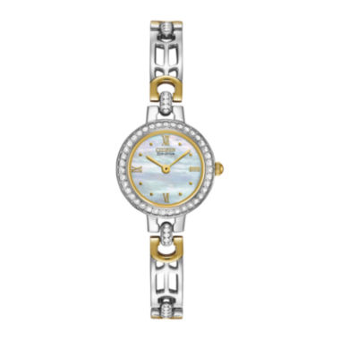 jcpenney.com | Citizen® Eco-Drive® Womens Crystal-Accent Two-Tone Bracelet Watch EW8464-52D