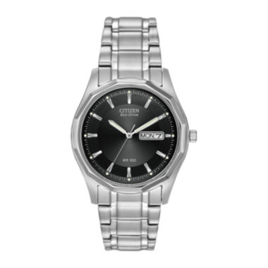 jcpenney.com | Citizen® Eco-Drive® Mens Black Dial Stainless Steel Watch BM8430-59E
