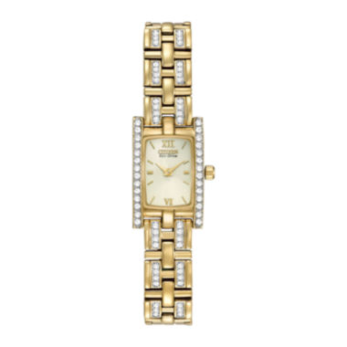 jcpenney.com | Citizen® Eco-Drive® Womens Crystal-Accent Gold-Tone Bracelet Watch EG2352-52P